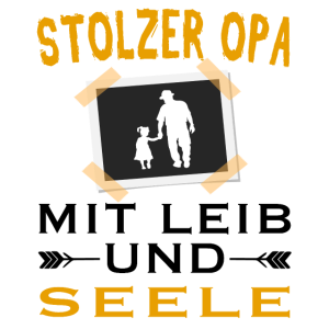 Stolzer Opa mit Leib und Seele - schwarz