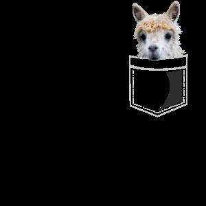 Niedliches Lama in Brusttasche Alpaka Geschenk