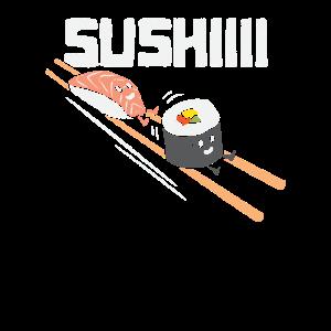 Lustiges Sushi auf Stäbchen Shirt