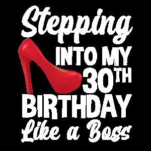 30. Geburtstag Frau