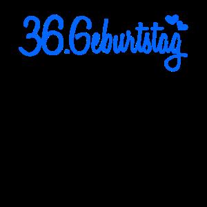 36 Geburtstag Gästebuch eintragen Deko Geschen