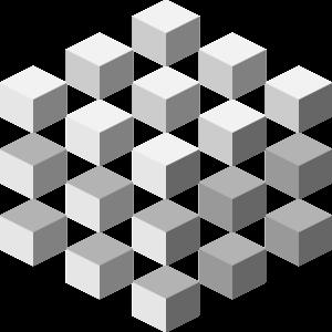 20 Geometric Cubes GREY