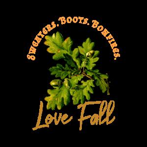 Love Fall, Ich liebe den Herbst mit Eichenlaub