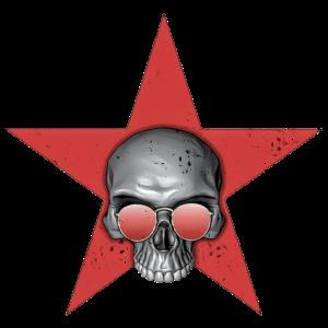 red star skull