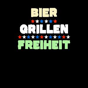 Bier Grillen Freiheit BBQ Griller