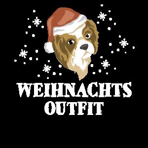 Weihnachten Weihnachtsoutfit Hund Cavalier