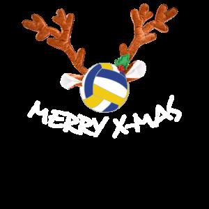 Rentier Beach Volleyball Weihnacht Herren Geschenk
