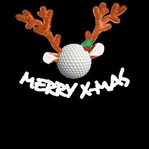 Rentier Golfball Merry X-Mas Weihnachtsgeschenk