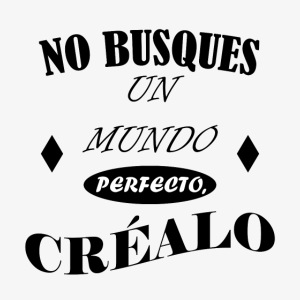 NO BUSQUES UN MUNDO PERFECTO, CRÉALO