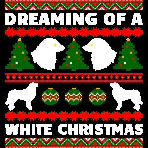 Pyrenäen-Sennenhund Weihnachten, falscher Weihnachtspullover