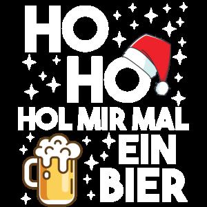 Ho Ho Hol Mir Mal Ein Bier Weihnachten Biertrinker
