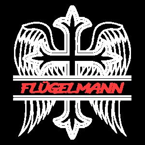 Flügelmann Kreuz mit Flügel