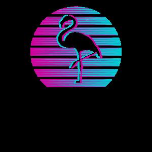 Flamingo Ästhekik Pink Flamingos Retro Geschenk
