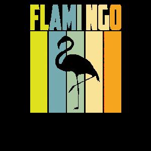 Flamingo Vogel Sommer Retro Tiere Rosa Geschenk