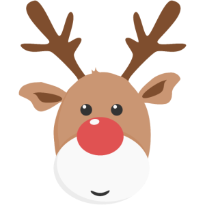 Rentier Rudolph Weihnachtsgeschenk