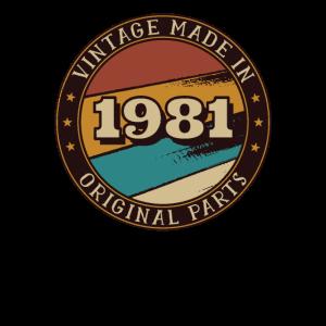 1981 Geburtstag Vintage Geschenkidee