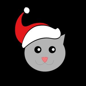 Weihnachten Katze mit Zipfelmütze