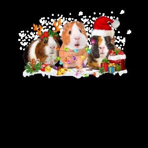 Meerschweinchen Rentier Santa Weihnachten