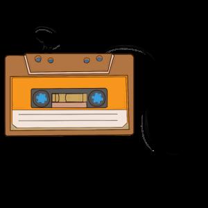 Retro Geschenk. Souvenir-Audiokassette. K7