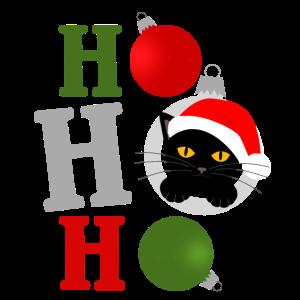 ho ho ho -Weihnachtskatze
