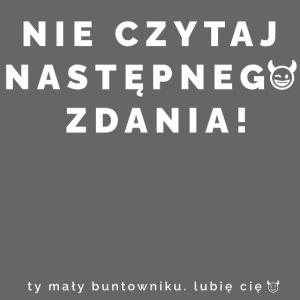 NIE CZYTAJ - Wersja Biała