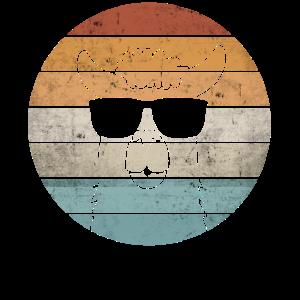 Lustiges Lama Alpaka Sonnebrille Vintage