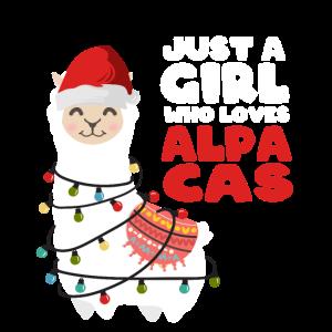 Alpaka Lama Weihnachten