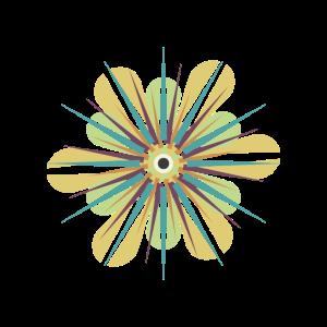 Blumen Illustration Grafik pastellfarben