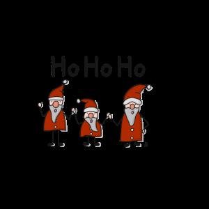 HoHoHo Weihnachtsmänner Weihnachten Winter