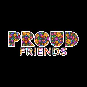 Stolze Freunde blumig