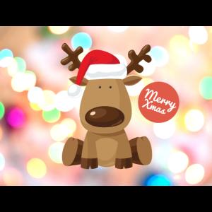 Lustige Gesichtsmaske Merry Xmas Elch