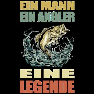 Mann Angler Legende