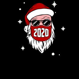 Weihnachtsmann mit Gesichtsmaske Weihnachten 2020