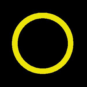gelber Kreis Kreis gelbes Design
