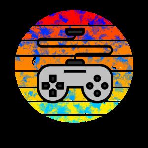 Gamepad Controller im Sonnenuntergang