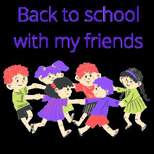 Zurück zur Schule mit meinen Freunden