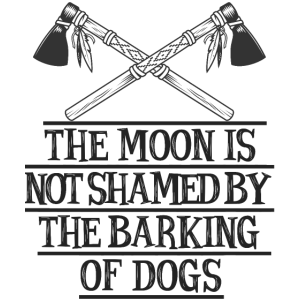 The moon is not shamed by the barking of dogs