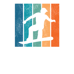 Snowboarder Snowboard Retro Wintersport Geschenk