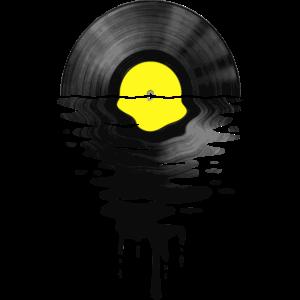 VinylLPRekord Sunset gelb