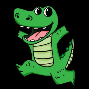 Krokodil Niedlich froh lustig