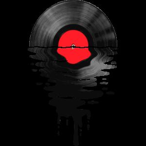 VinylLPRekord Sunset Red