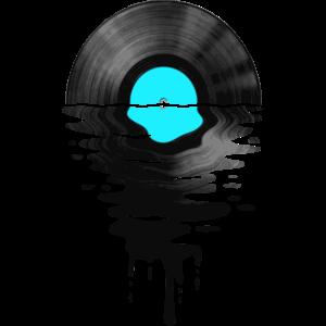 VinylLPRekord Sunset hellblau