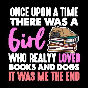 Mädchen Bücher Hunde lesen Buch Welpe Spruch