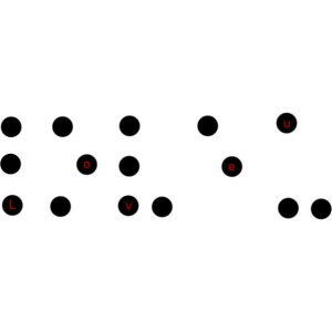Je t'aime braille