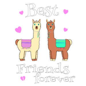 Alpaka Best Friends forever