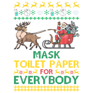 Maske Toilettenpapier für jedermann Weihnachten Ni