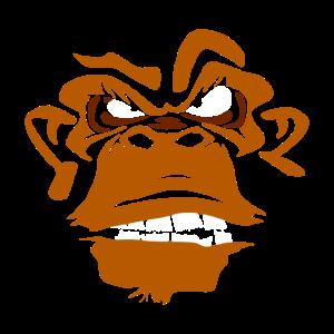 Garstiger Affe Lustig und Originell