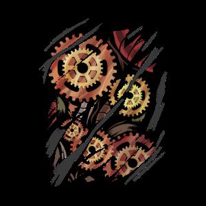 Steampunk Zahnräder Geschenk