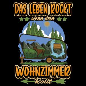 Camping Wohnwagen Reisen Natur Spruch Geschenk