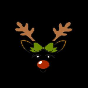 Kleine Elchdame Weihnachten Elch Geschenk